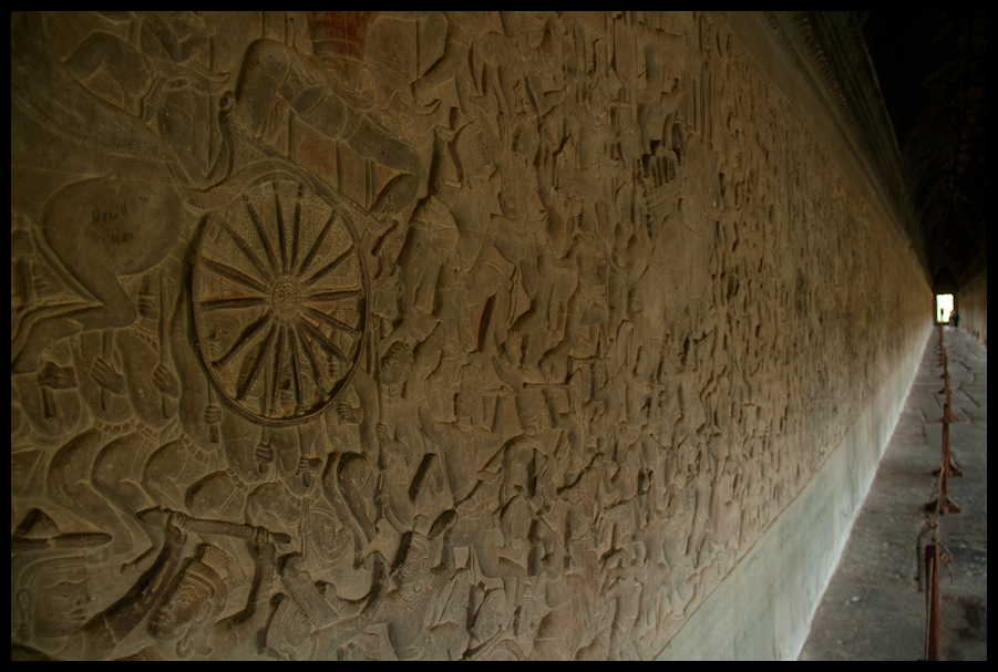 Carvings in the wall